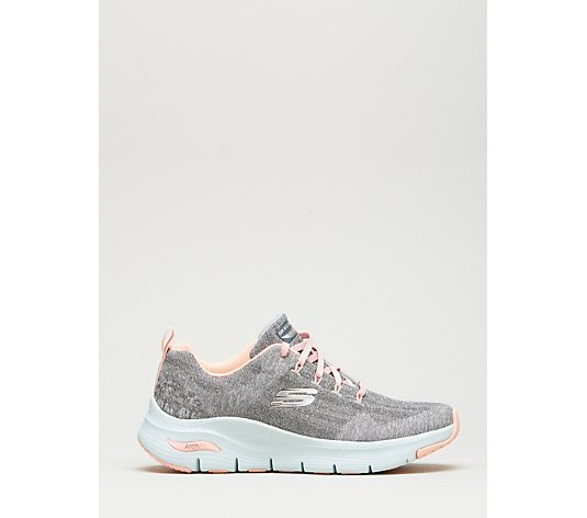 Skechers Arch Fit Comfy Wave Knit Lace Trainer