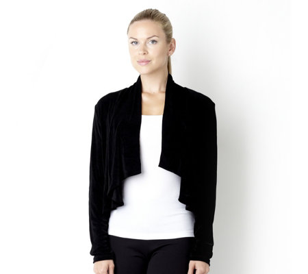 Outlet Kim & Co Long Sleeve Cascading Front Cardigan