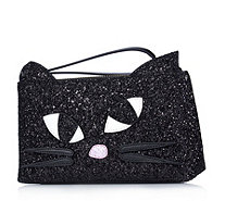 Lulu Guinness Glitter Kooky Cat Medium T Seam Pouch - 160743