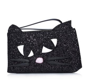 Lulu Guinness Glitter Kooky Cat Medium T Seam Pouch 160743