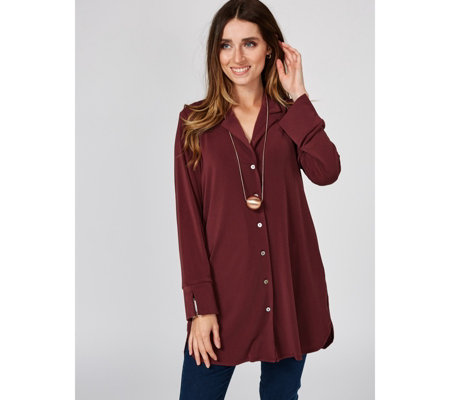 MarlaWynne Luxe Crepe Tunic Shirt