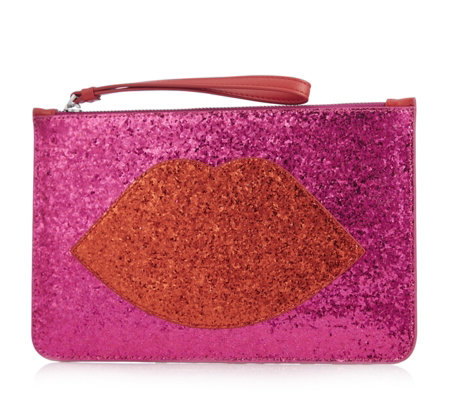 Lulu Guinness Grace Glitter Clutch Bag