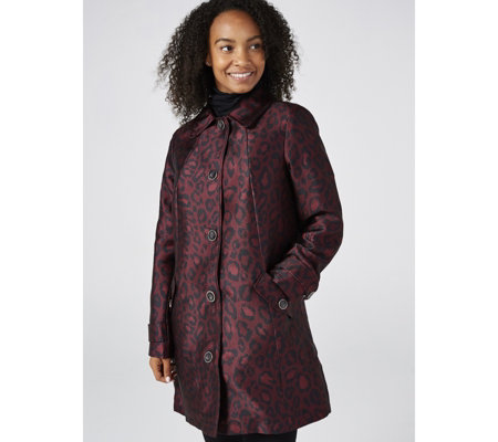 Dennis Basso Printed Woven Jacket with Quilted Lining