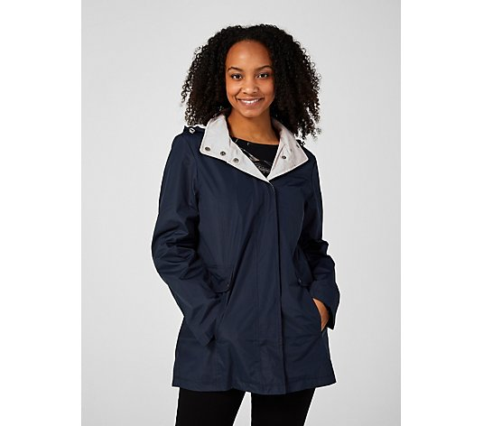 Centigrade Hooded Raincoat with Pockets