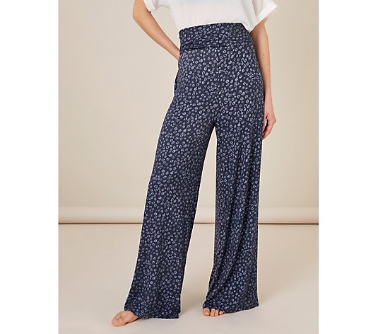 Monsoon Carter Printed Wide Leg Trousers