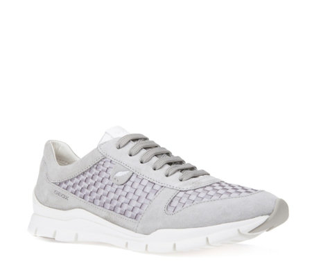 Geox Sukie Suede Lace Up Trainers