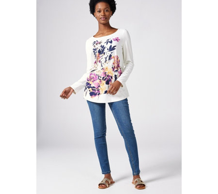 Mr Max Long Sleeve Digital Placement Print Top