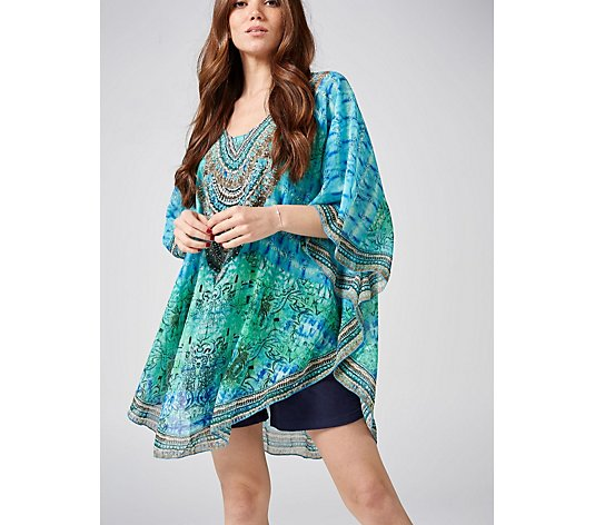 Frank Usher Embellished Light Weight Cover Up