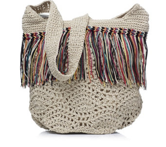 The Sak Heritage Crochet Fringed Bucket Bag - 159445