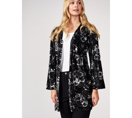 Longline Velvet Burnout Duster by Michele Hope