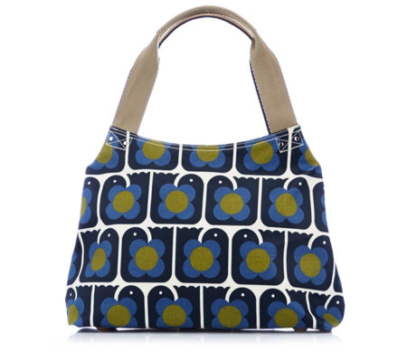Orla Kiely Love Birds Classic Zip Shoulder Bag