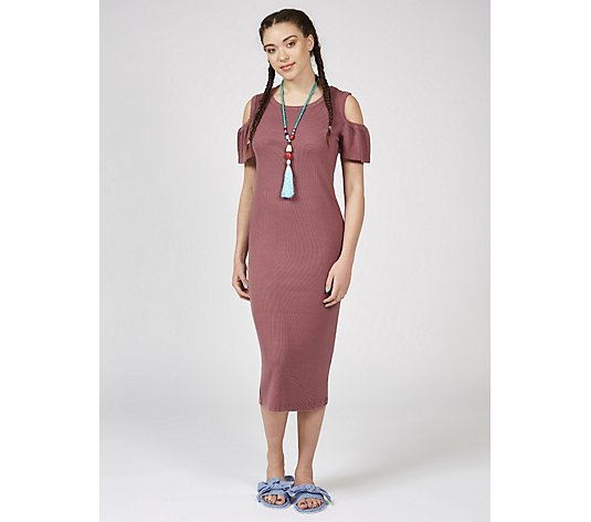 Du Jour Cold Shoulder Midi Dress