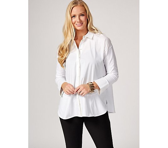 MarlaWynne Mix Media Poplin Shirt