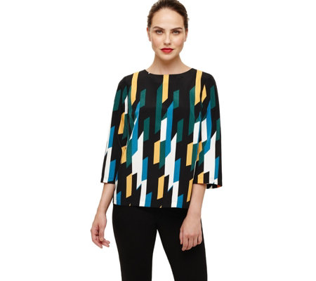 Phase Eight Sage Geo Print Blouse