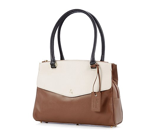 Ashwood Leather Triple Compartment Shoulder Bag