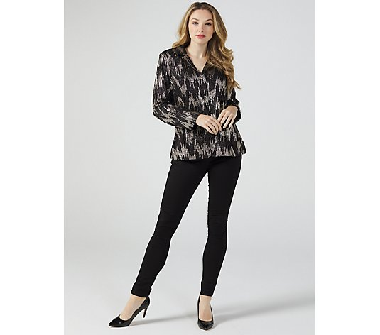 Gleaming Jersey Blazer by Michele Hope