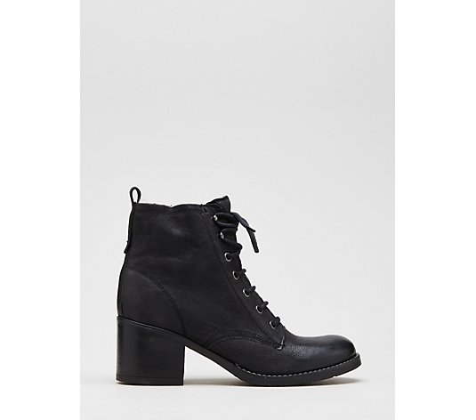 Dune Patsie D Lace Up Leather Ankle Boot
