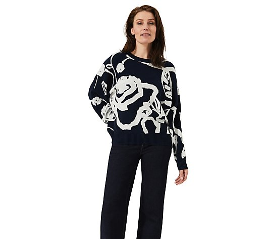 Phase Eight Judie Jacquard Rose Jumper