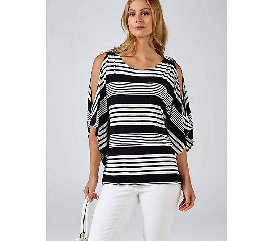 Andrew Yu Striped Knit Top