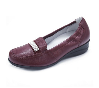 Vitaform Leather Loafer with Swarovski Detail - 167446