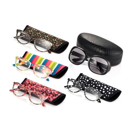 3259c46a23e55 Set of 5 Reading Glasses Including 1 Pair of Bifocal Sunglasses - QVC UK