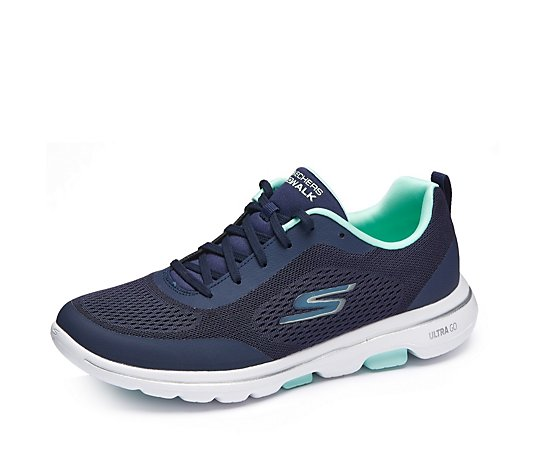 Skechers GOwalk 5 Exquistite Athletic Engineered Lace Up Trainer
