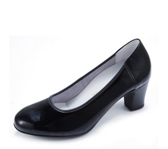 Vitaform Stretch Leather Patent Court Shoe - 167447