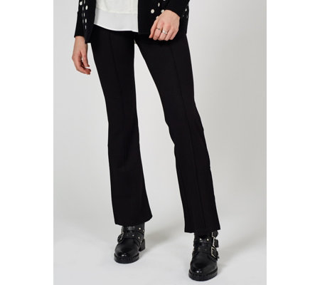 H by Halston Twill Bootcut Pintuck Trousers Regular