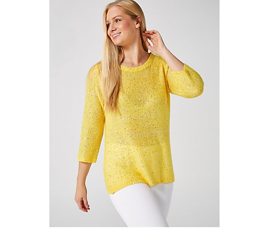 Sequin Yarn Jumper by Michele Hope