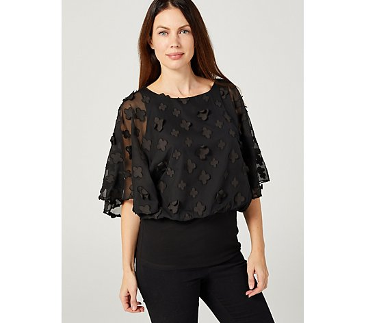 Coco Bianco Applique Overlay Top