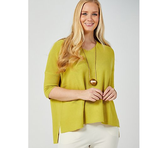 MarlaWynne Links Stitch V Neck Pullover