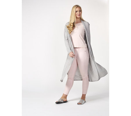 Textured Longline Lightweight Cardigan by Michele Hope