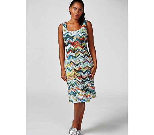 Ronni Nicole Sleeveless Zig Zag Print Dress