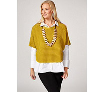 MarlaWynne Mix Stitch Boat Neck Popover - 173348