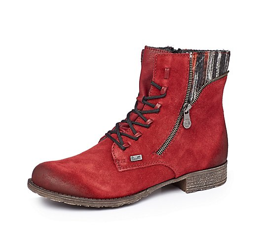 Rieker Side Zip Lace Up Boot
