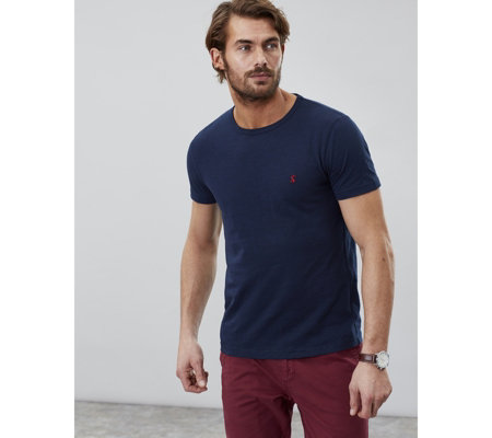 Joules Mens Denton Crew Neck Solid T Shirt