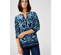 Artscapes Tribal Ikat Satin Trim Kaftan - 105149