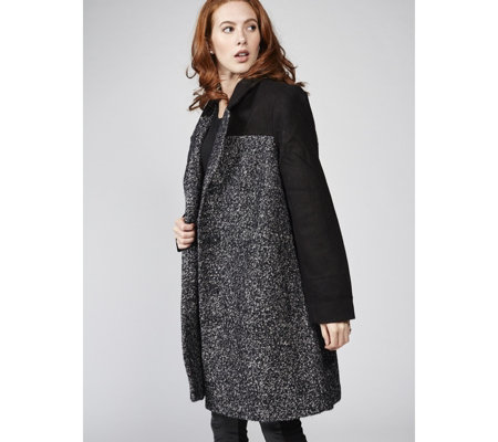 Centigrade Colour Block Boucle Coat
