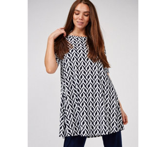 186de8882935 Kim   Co Printed Brushed Venechia Elbow Sleeve Tunic - 172849