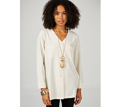 MarlaWynne Front Pocket Tunic Blouse - 174249