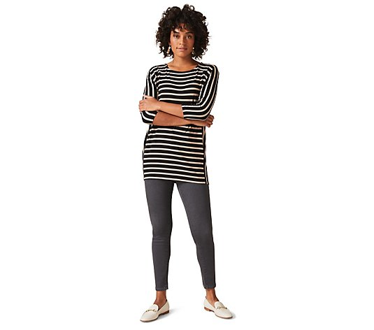 Phase Eight Longline Striped Top