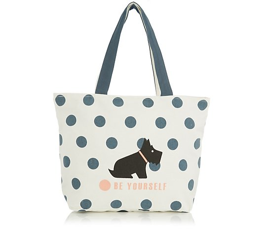 Radley Be Yourself Zip Top Canvas Tote Bag