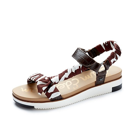 Sam Edelman Ashie Croco Leather Flatform Sandal