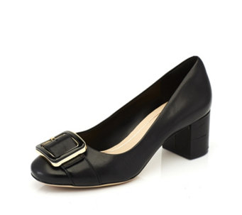 Clarks Orabella Fame Block Heel Court Shoes - 166350