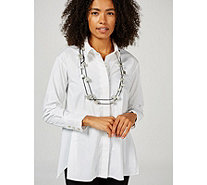 MarlaWynne Pleated Detail Butterfly Shirt - 174250