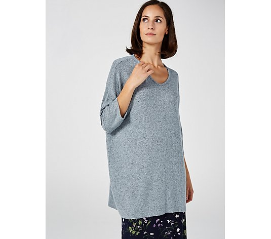 Kim & Co Brushed Lux Sweater Knit Dolman Sleeve Tunic