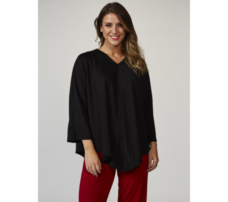 Kim & Co Soft Touch V Neck Poncho