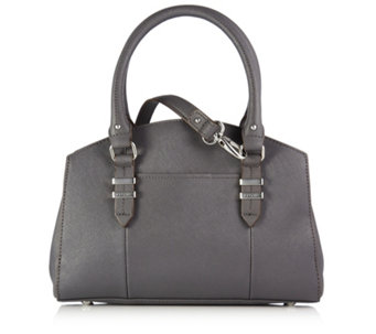 Tignanello Saffiano Triple Compartment Dome Satchel Bag with Magnetic Closure - 156951