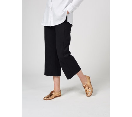 MarlaWynne Easy Crop Ponte Trousers with Pockets