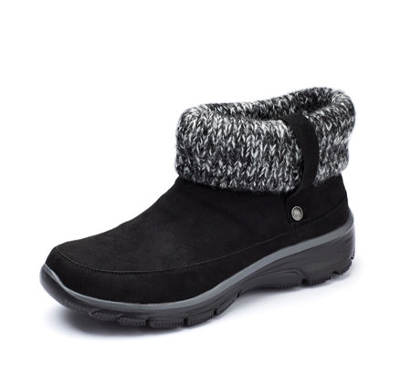 Skechers Easy Going Heighten Foldove Knit Collar Bootie